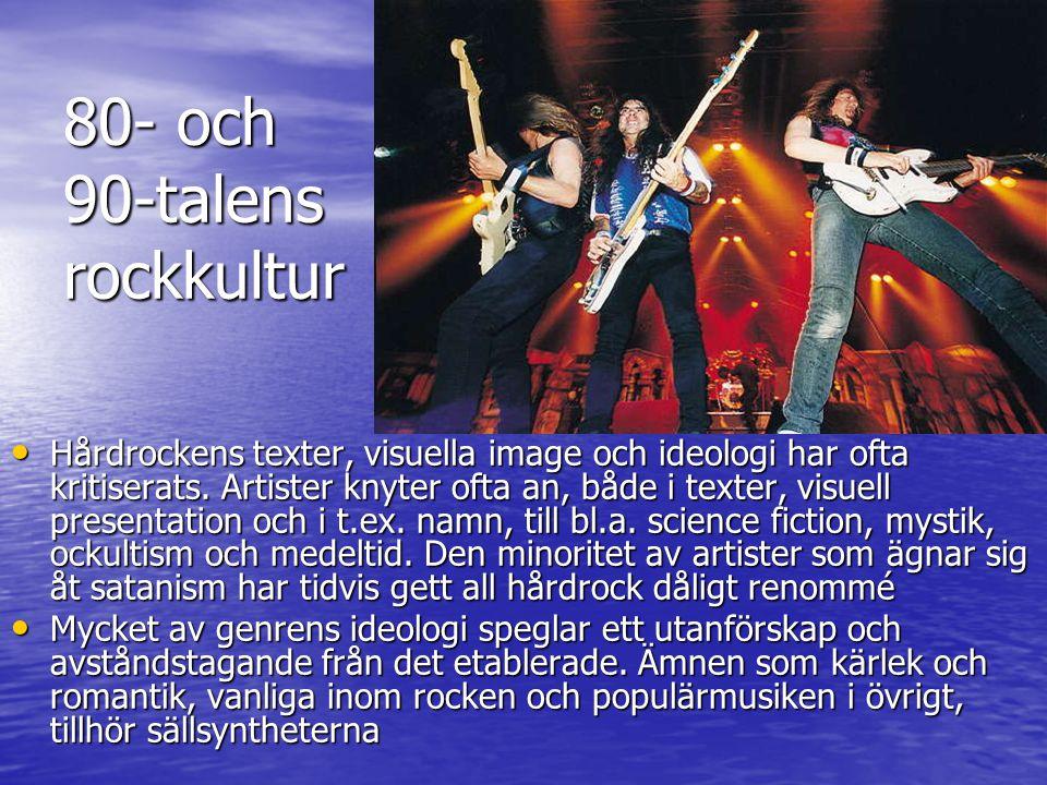 80- och 90-talens rockkultur