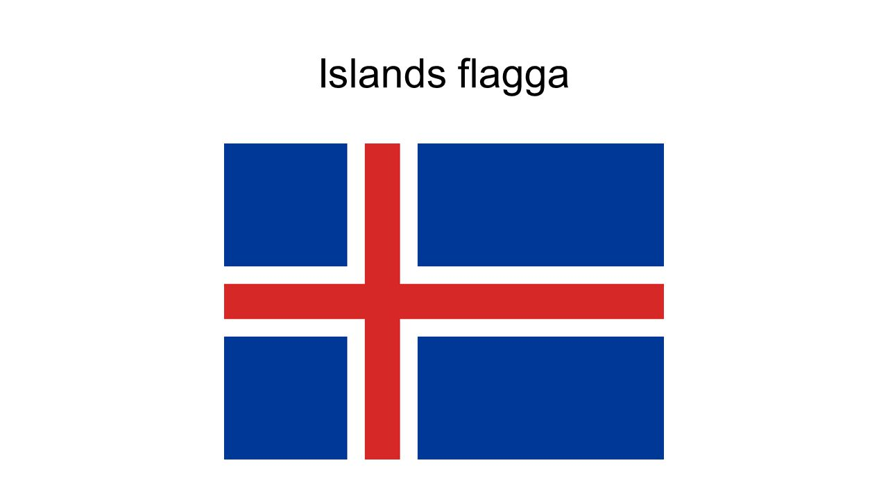 Islands flagga