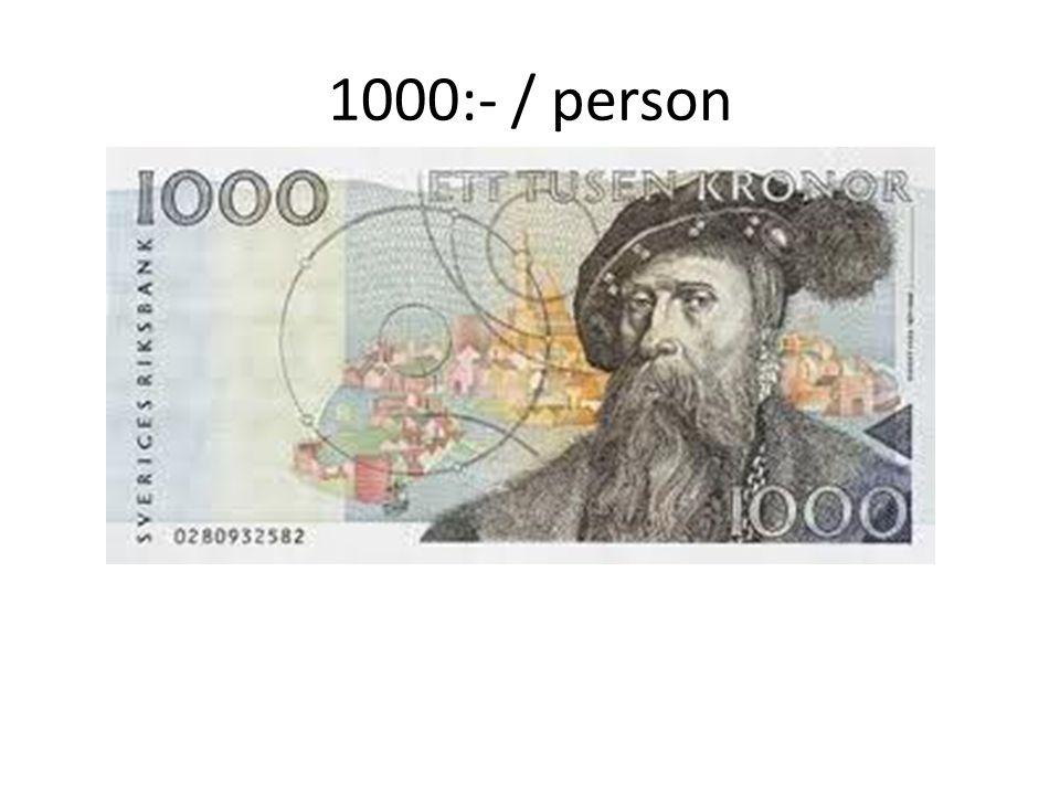 1000:- / person