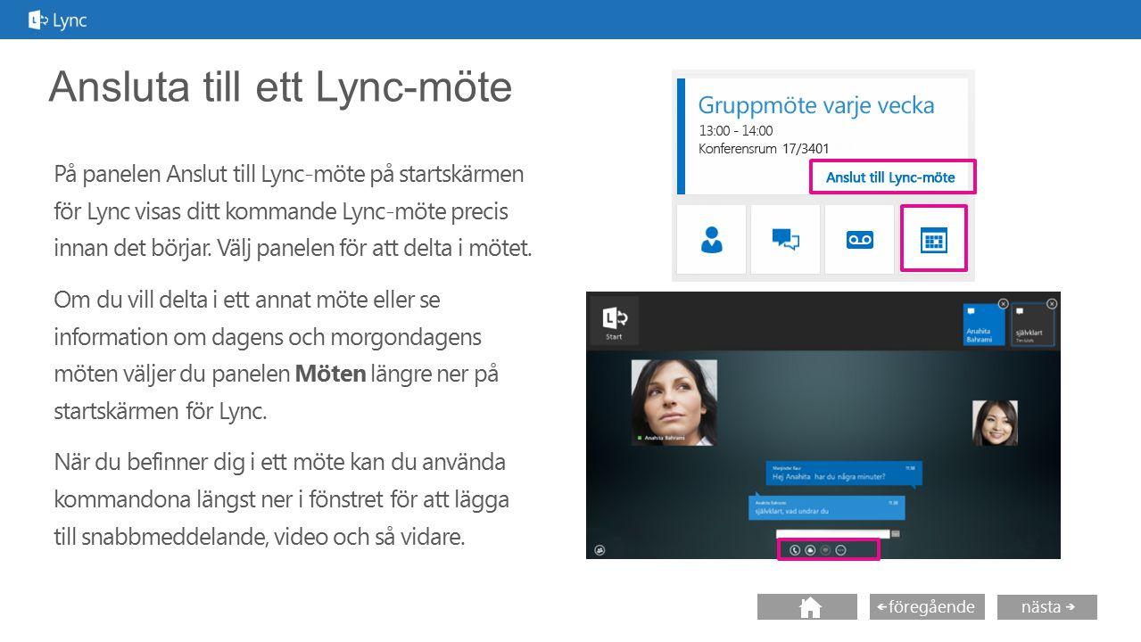 Ansluta till ett Lync-möte