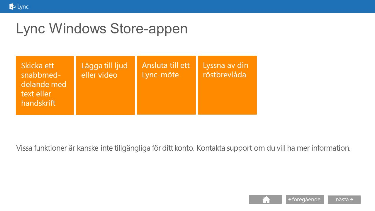 Lync Windows Store-appen