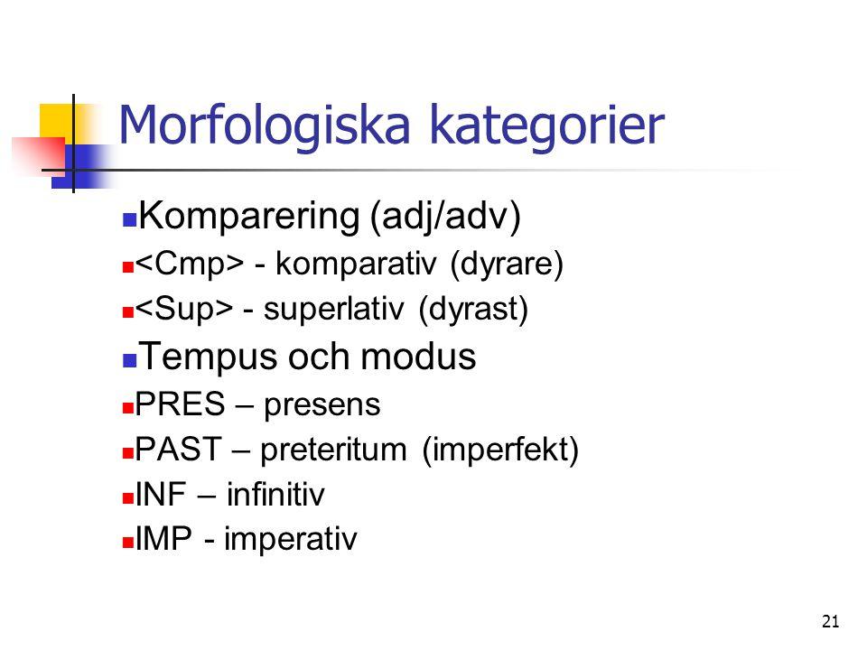 Morfologiska kategorier