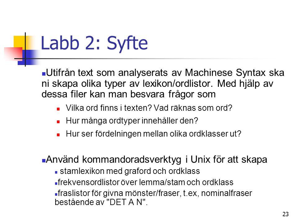 Labb 2: Syfte