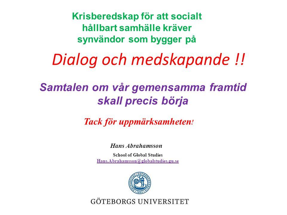 Dialog och medskapande !!