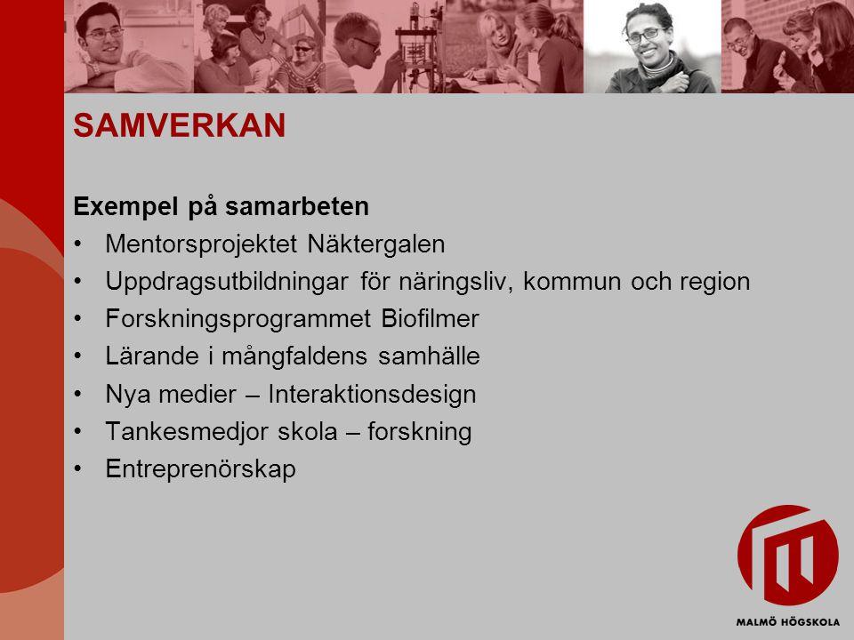 SAMVERKAN Exempel på samarbeten Mentorsprojektet Näktergalen