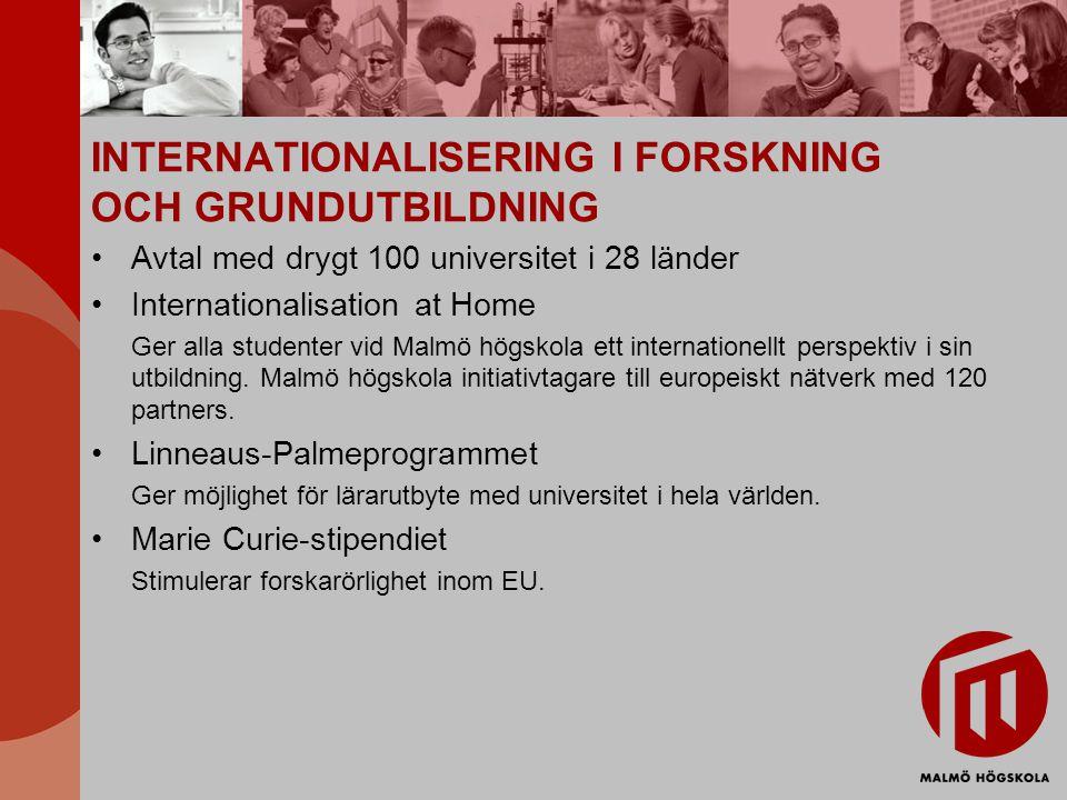 INTERNATIONALISERING I FORSKNING OCH GRUNDUTBILDNING