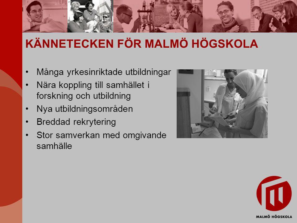 KÄNNETECKEN FÖR MALMÖ HÖGSKOLA