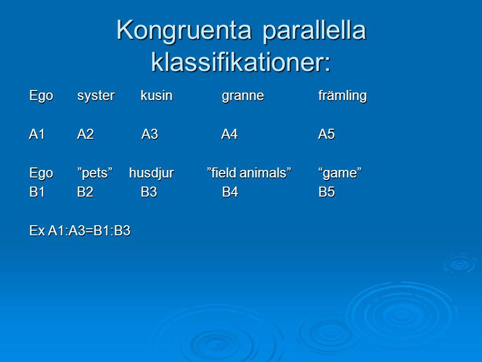 Kongruenta parallella klassifikationer:
