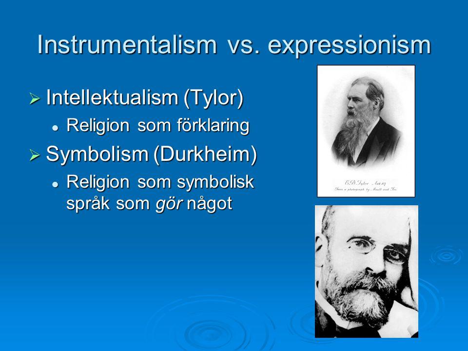Instrumentalism vs. expressionism