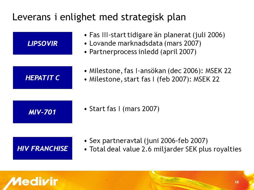 Leverans i enlighet med strategisk plan