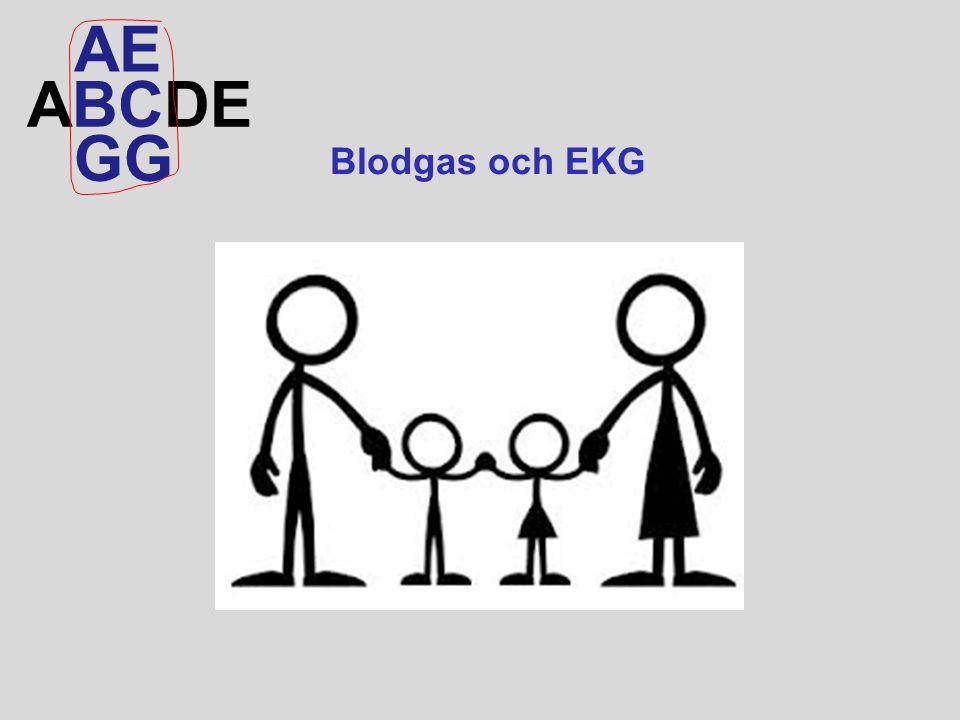 AE ABCDE GG Blodgas och EKG