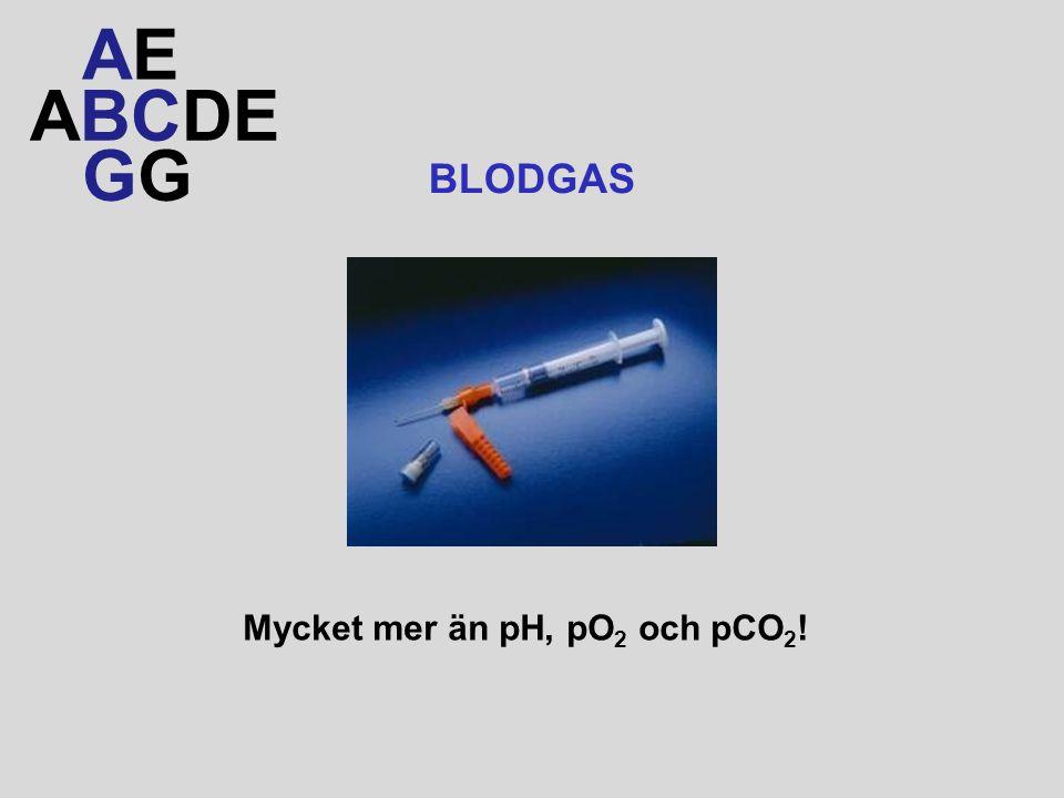 AE ABCDE GG BLODGAS Mycket mer än pH, pO2 och pCO2!