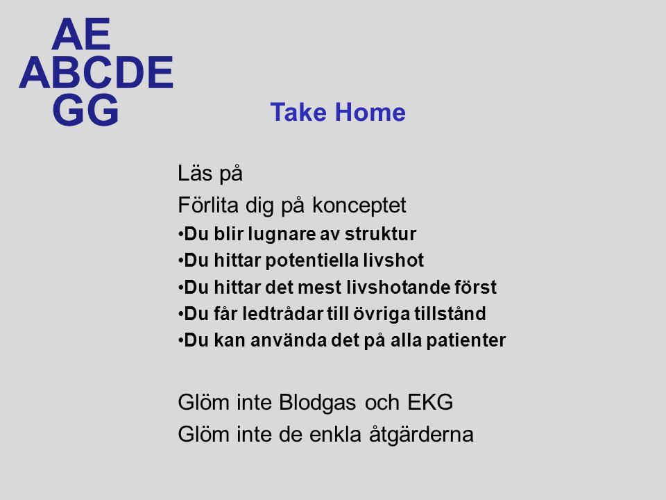 AE ABCDE GG Take Home Läs på Förlita dig på konceptet