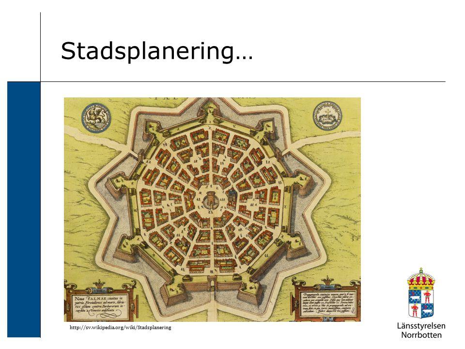 Stadsplanering… http://sv.wikipedia.org/wiki/Stadsplanering