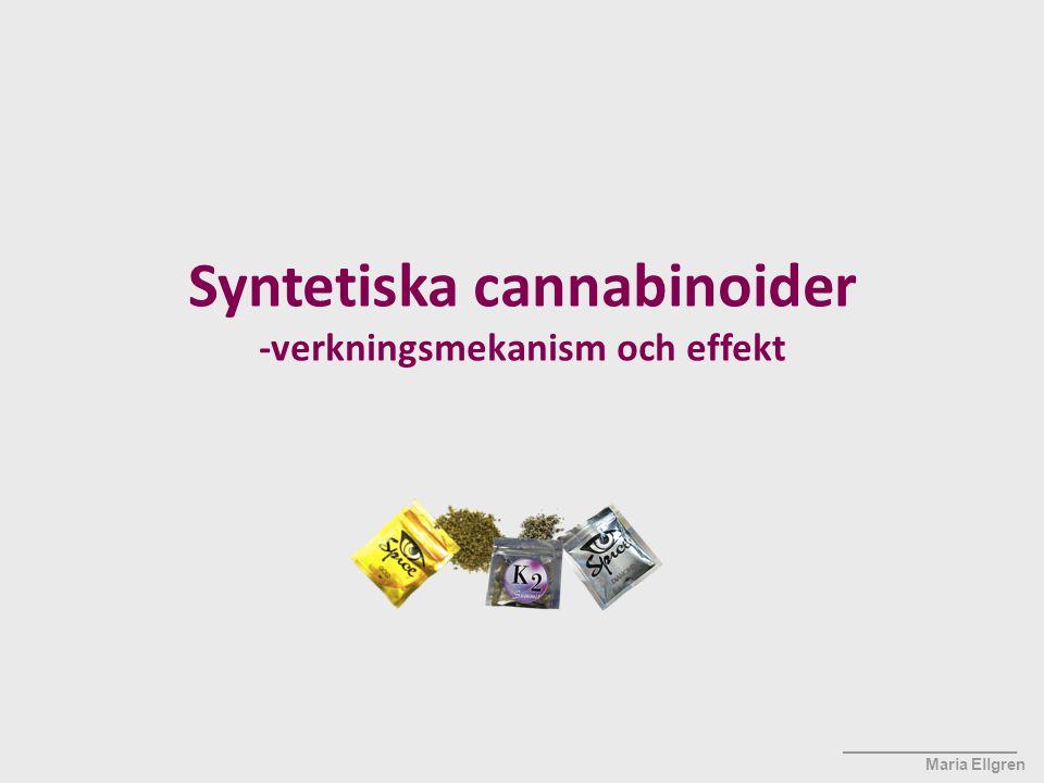 Syntetiska cannabinoider -verkningsmekanism och effekt