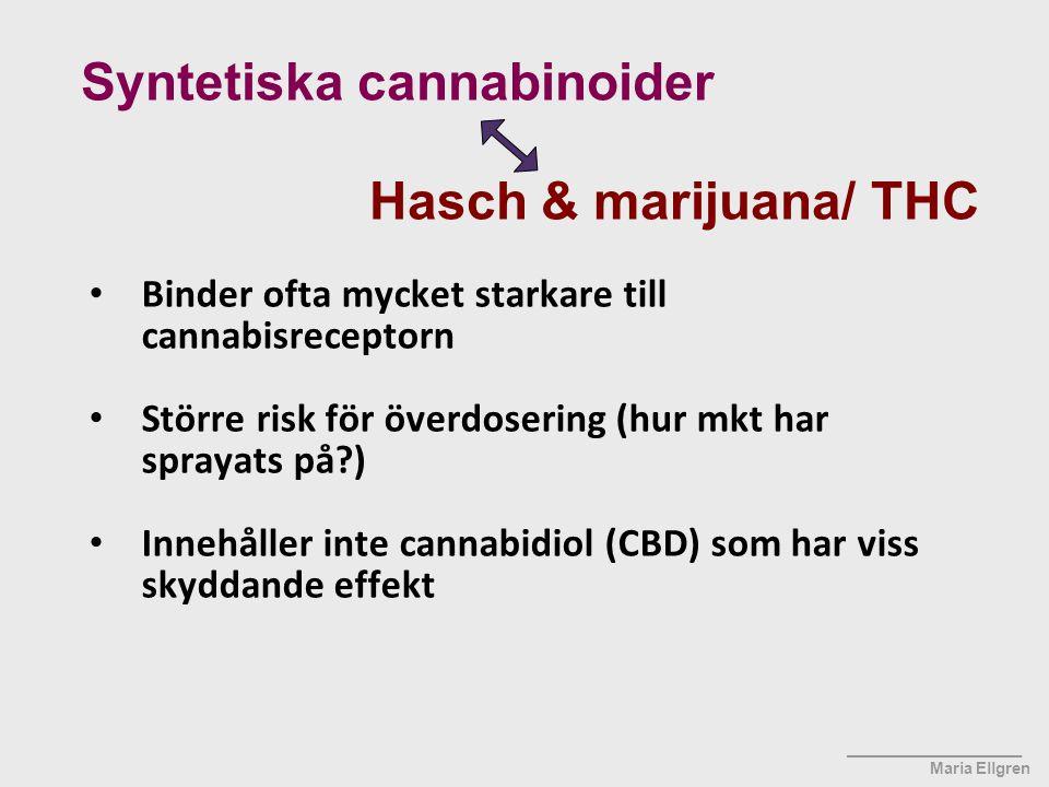 Syntetiska cannabinoider Hasch & marijuana/ THC