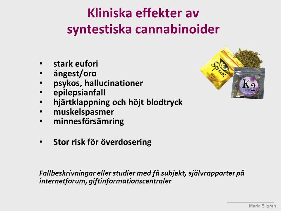 Kliniska effekter av syntestiska cannabinoider