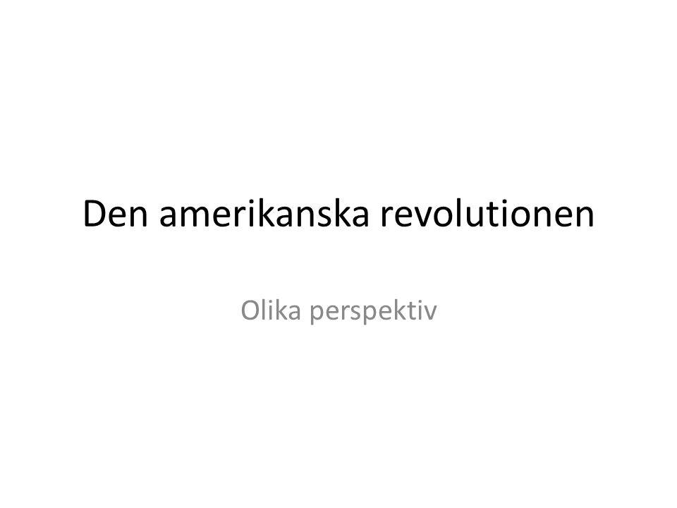 Den amerikanska revolutionen