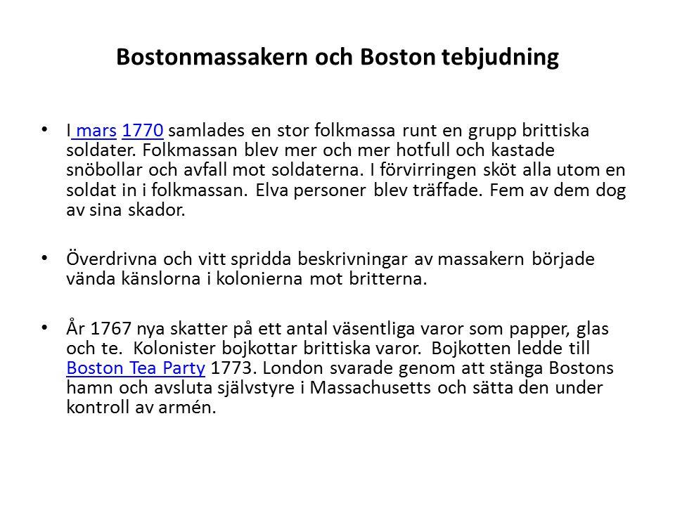 Bostonmassakern och Boston tebjudning