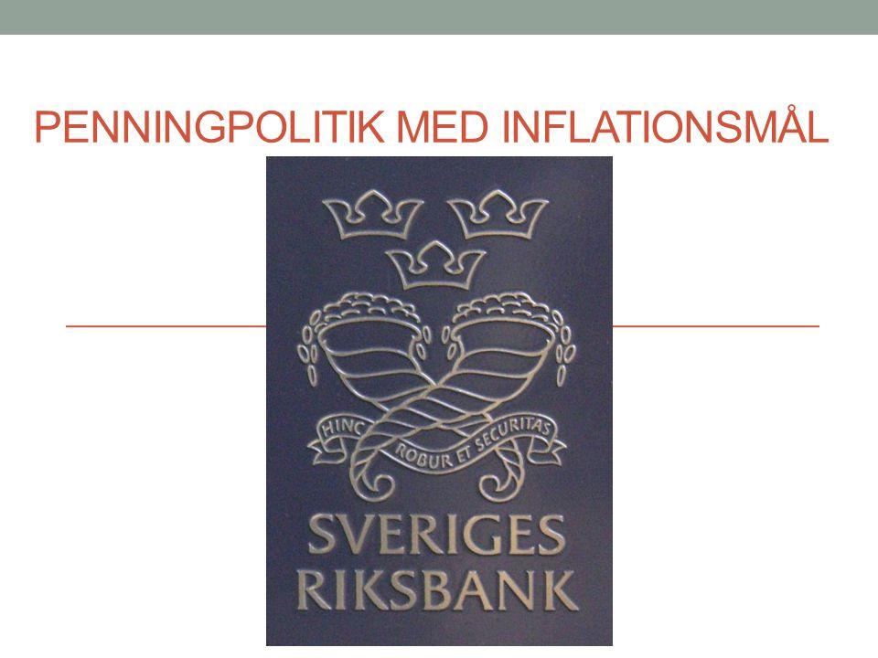 Penningpolitik med inflationsmål