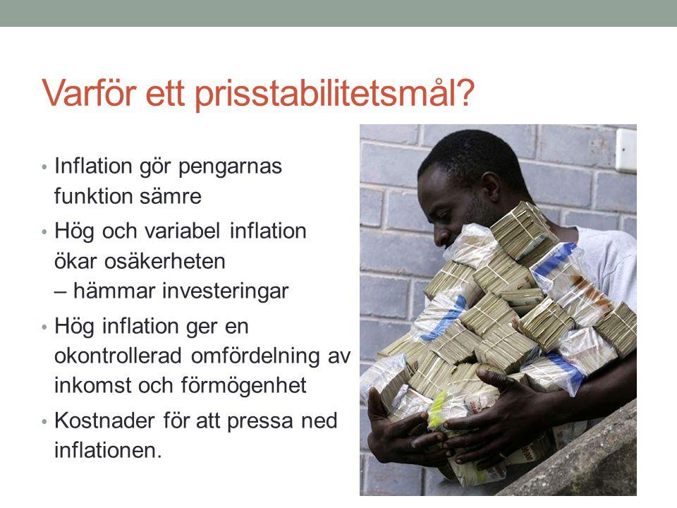 Varför ett prisstabilitetsmål