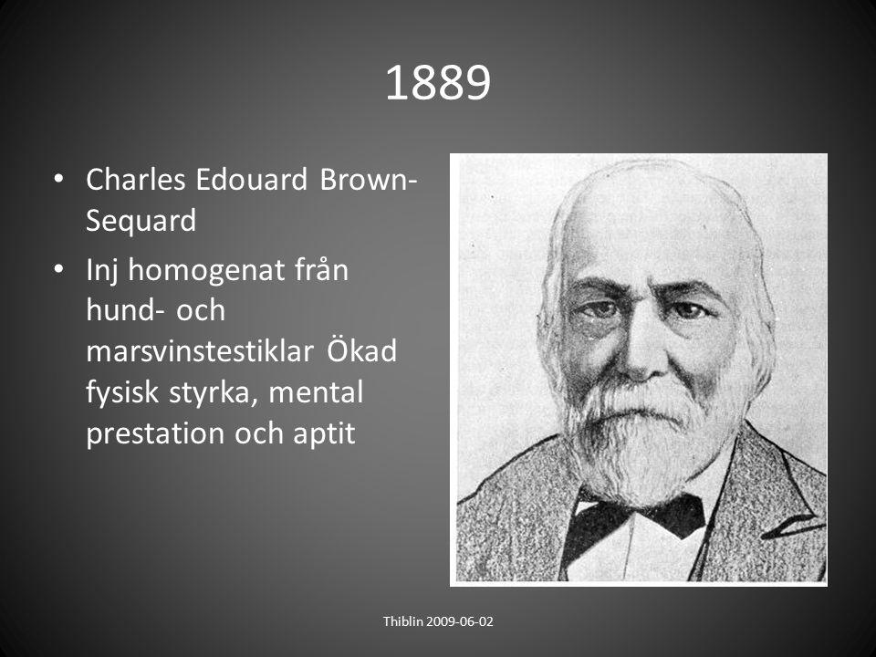 1889 Charles Edouard Brown-Sequard
