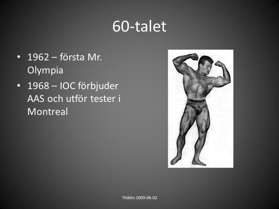60-talet 1962 – första Mr. Olympia