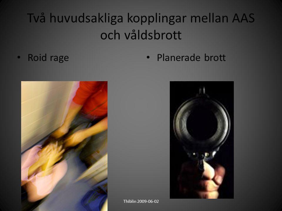 Två huvudsakliga kopplingar mellan AAS och våldsbrott