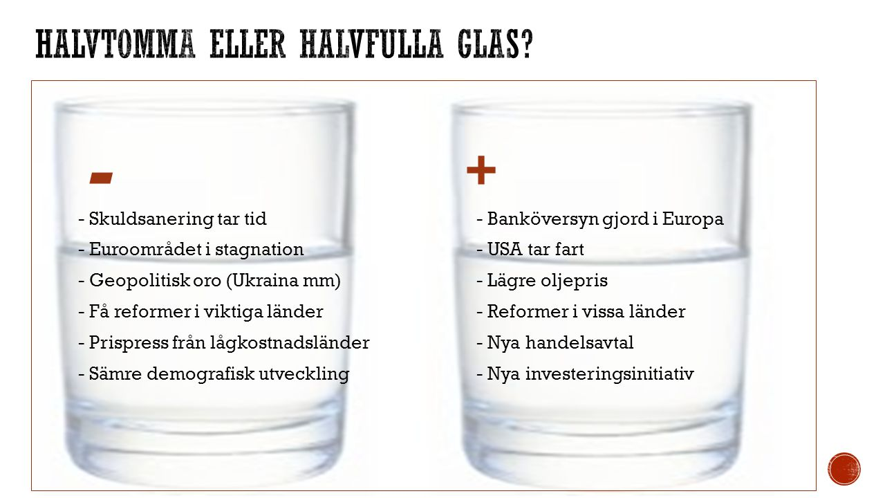 Halvtomma eller halvfulla glas