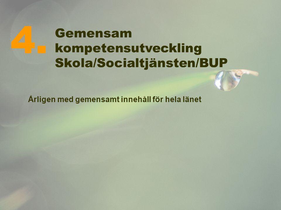 4. Gemensam kompetensutveckling Skola/Socialtjänsten/BUP