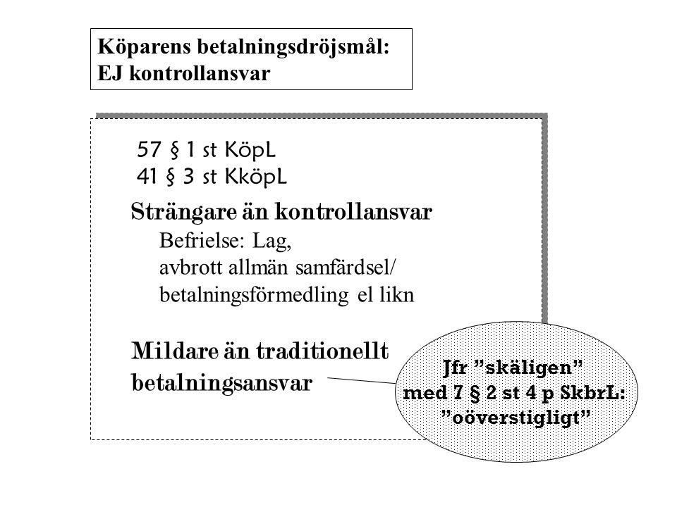 Jfr skäligen med 7 § 2 st 4 p SkbrL: oöverstigligt