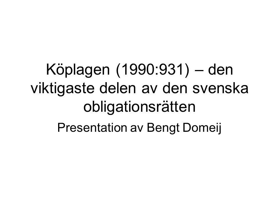 Presentation av Bengt Domeij