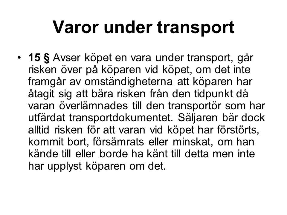 Varor under transport