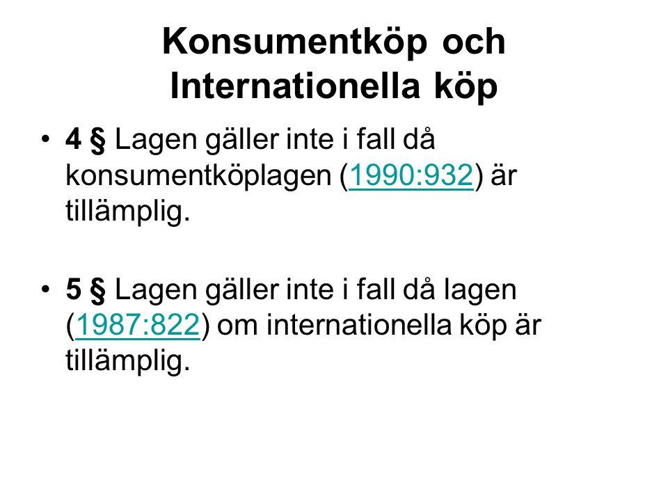 Konsumentköp och Internationella köp