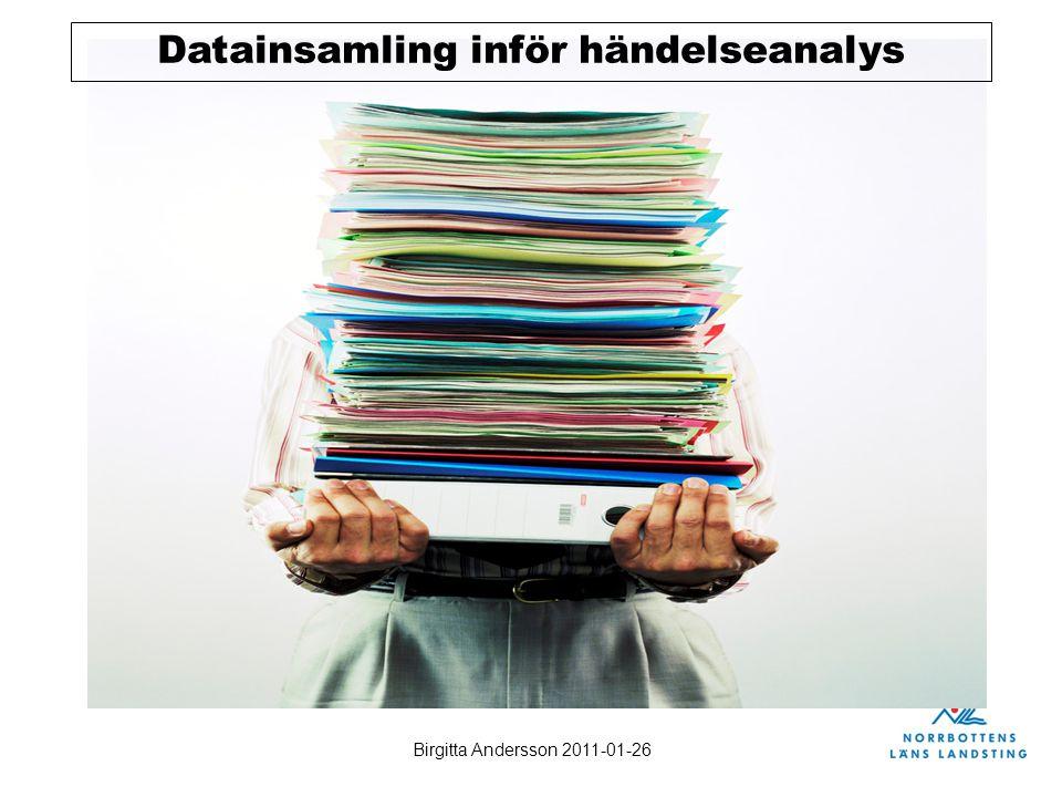 Datainsamling inför händelseanalys