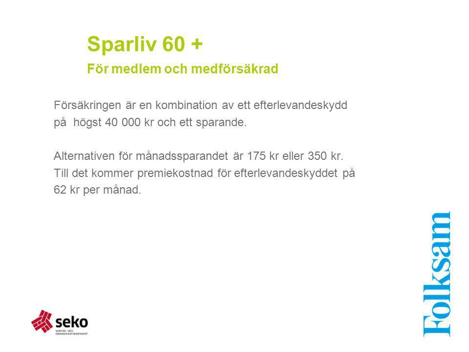 Sparliv 60 + För medlem och medförsäkrad