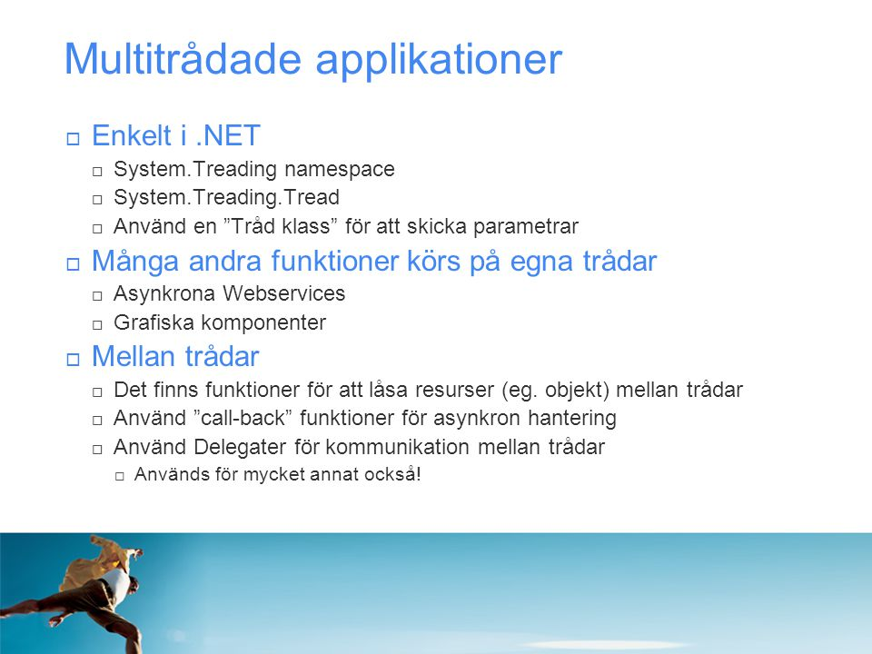 Multitrådade applikationer