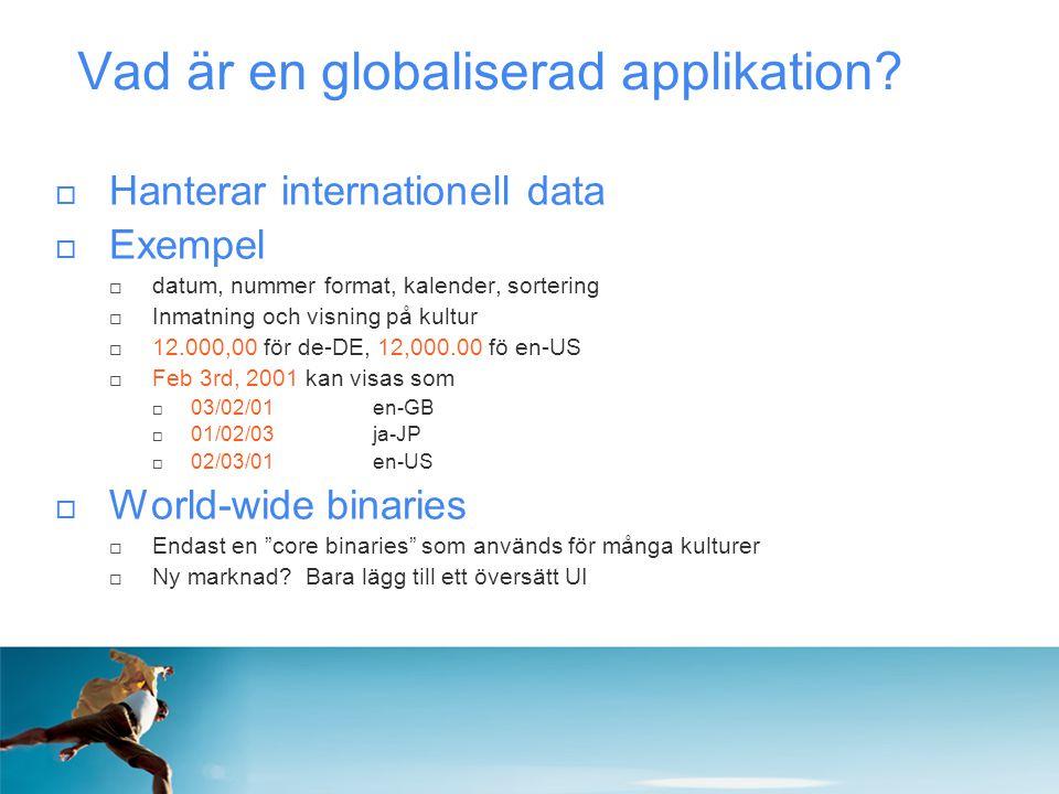 Vad är en globaliserad applikation
