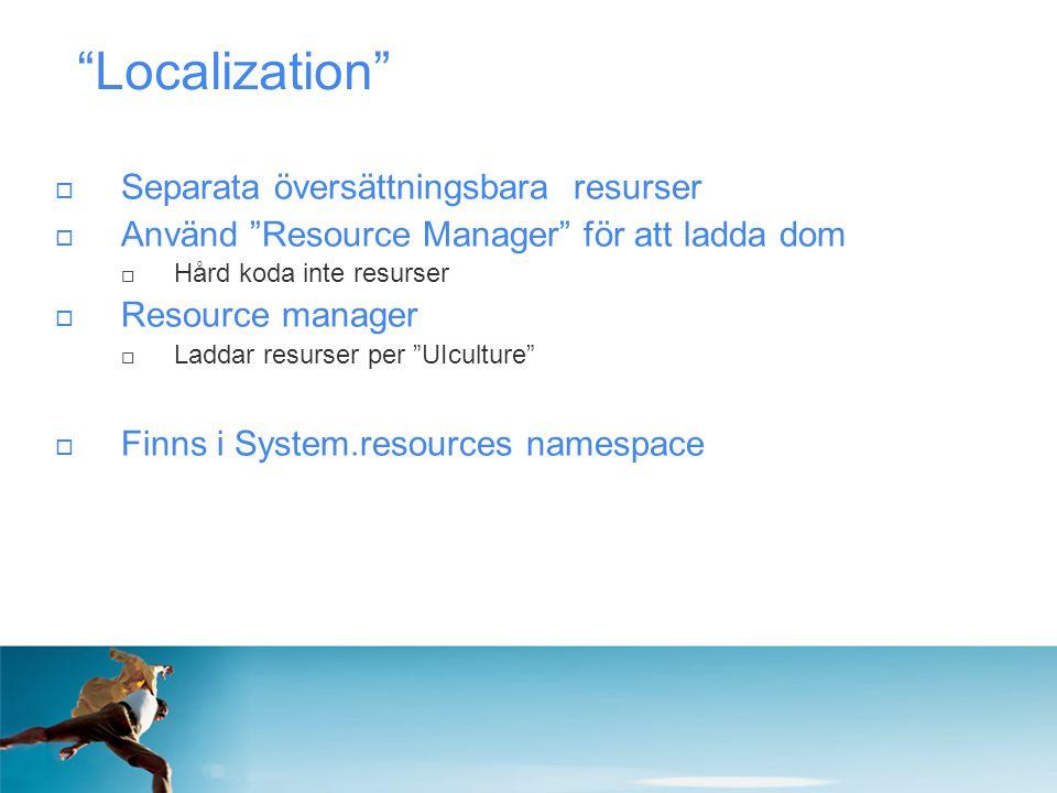 Localization Separata översättningsbara resurser