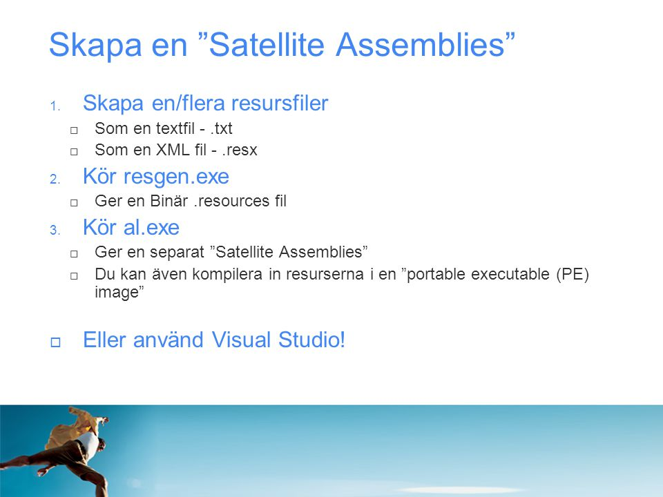 Skapa en Satellite Assemblies