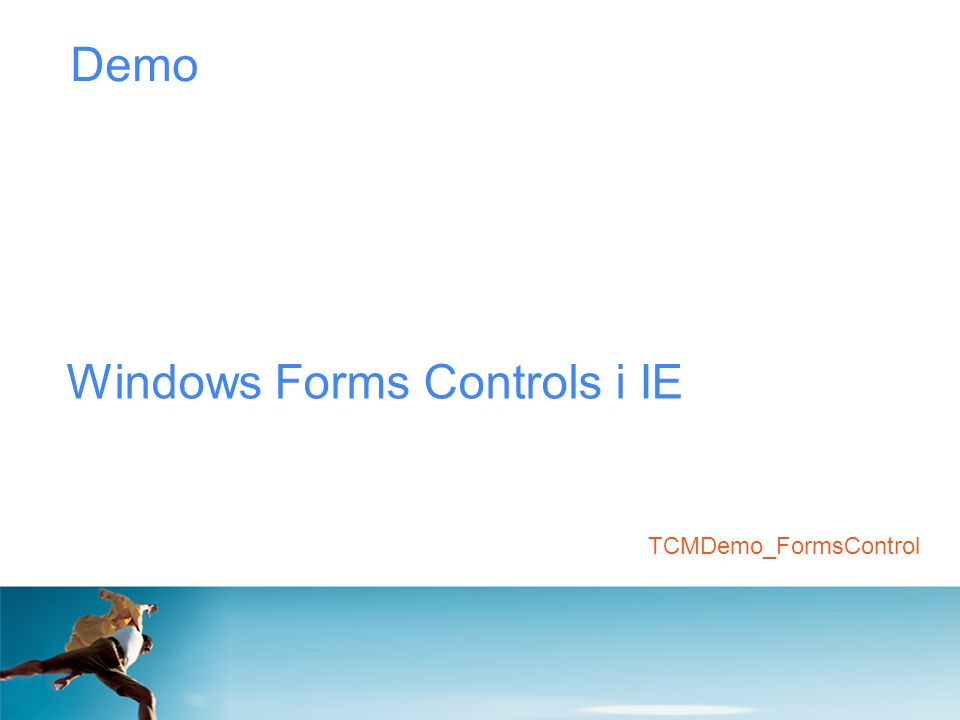 Windows Forms Controls i IE