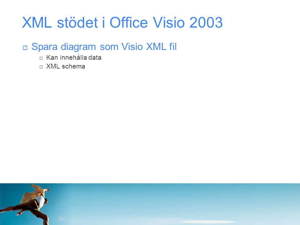 XML stödet i Office Visio 2003