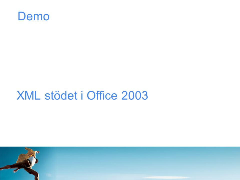 Demo XML stödet i Office 2003