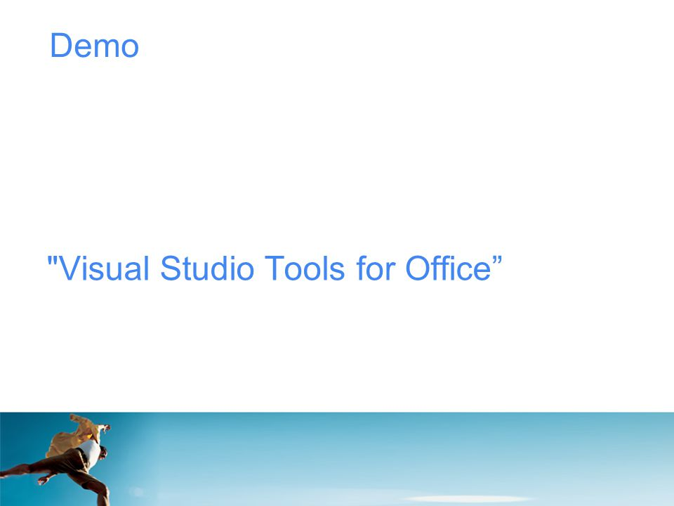 Demo Visual Studio Tools for Office