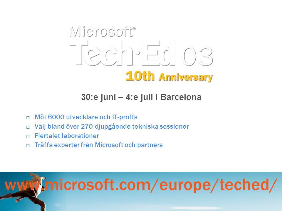 30:e juni – 4:e juli i Barcelona