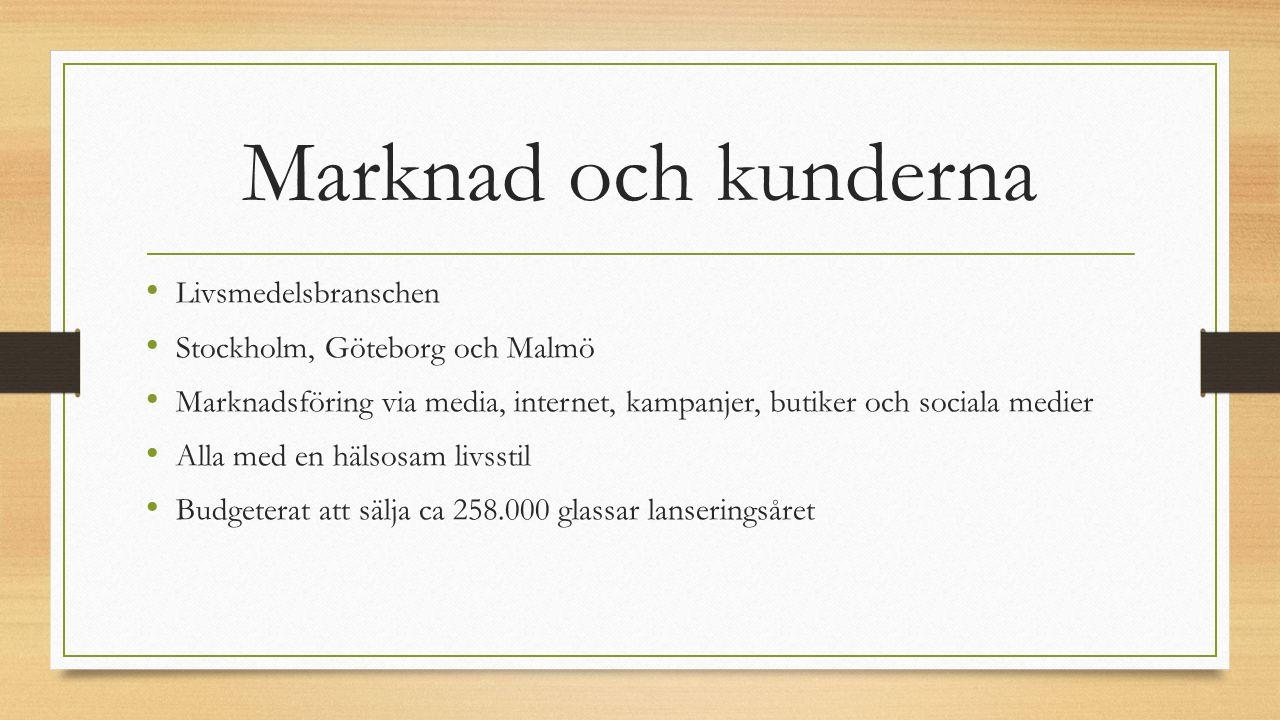 Marknad och kunderna Livsmedelsbranschen Stockholm, Göteborg och Malmö