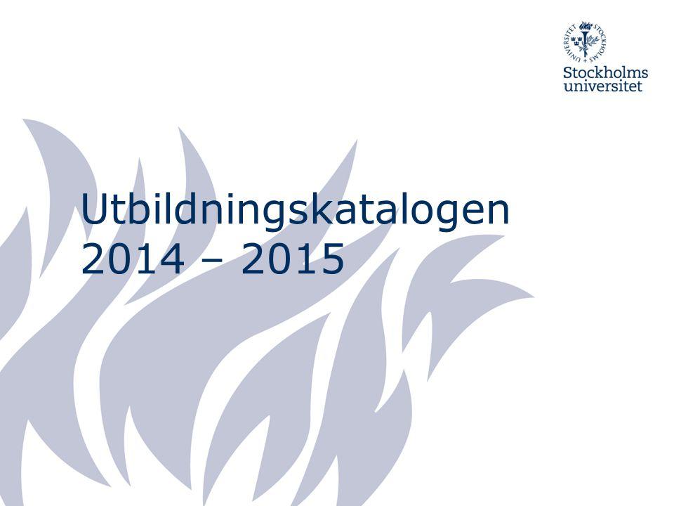 Utbildningskatalogen 2014 – 2015