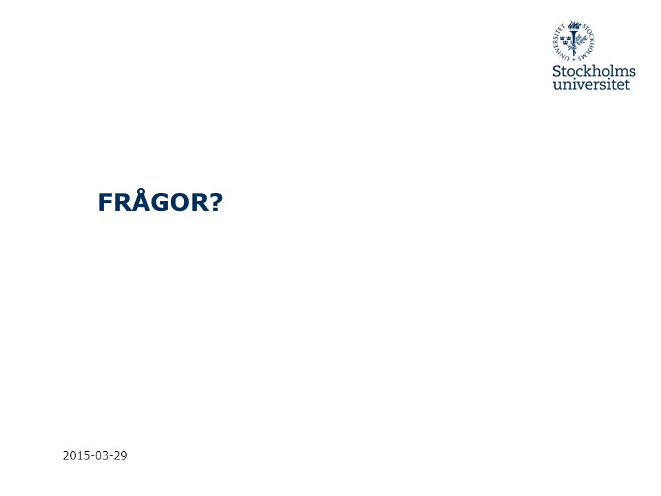 FRÅGOR 2017-04-08