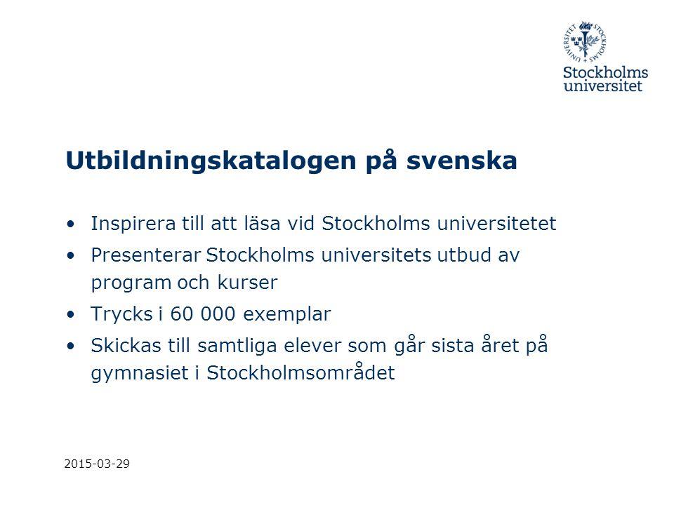 Utbildningskatalogen på svenska