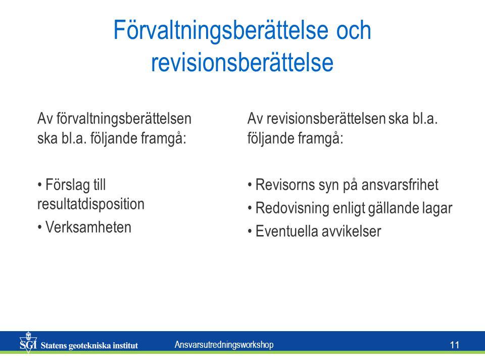 Förvaltningsberättelse och revisionsberättelse